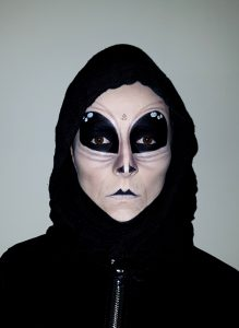 Alien halloween makeup