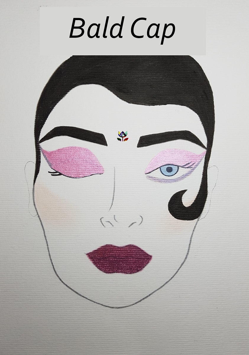 Bald Cap face chart sfx make up Magdalena Mazur Drogheda m ...