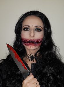 Chelsea Smile Halloween makeup