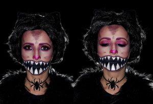 Cheshire Cat halloween makeup