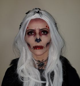 Diamond Skull Halloween makeup