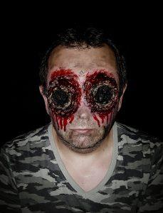 Missing eyes sfx Halloween makeup