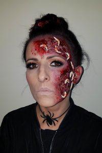 Worms sfx halloween makeup