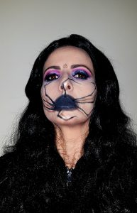 Spider 3D halloween makeup