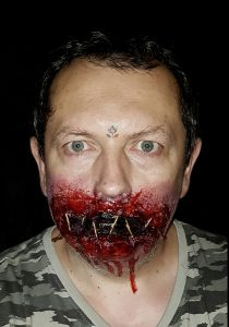 Stitched mouth sfx Halloween makeup