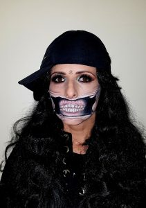 Torn Mouth halloween make up
