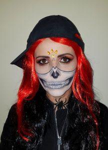 Half Skull 2 Halloween makeup