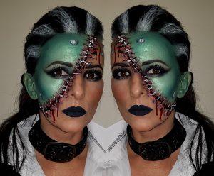 Bride of Frankenstein special effects halloween makeup