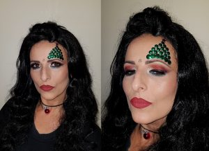 Christmas tree makeup idea