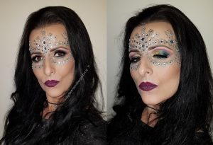 festival glitter diamond makeup