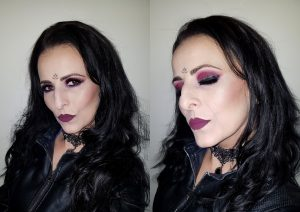 Valentine's Day evening special occassion make up burgundy eyes lips