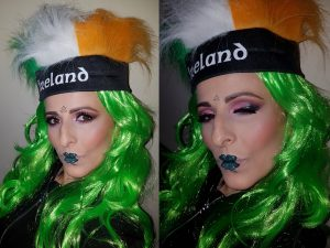 shamrock st Partick's Day makeup idea