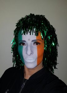 Irish Flag makeup St. Patrick's Day makeup idea