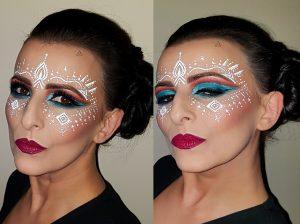 festival makeup trendy cut crease