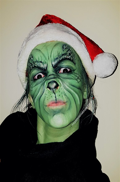 grinch christmas makeup